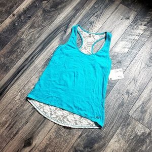 NWT Roxy Racerback Tank with lace
